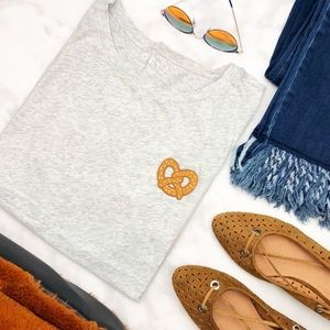 Gray Pretzel Patch Tee